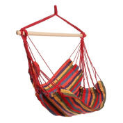 OULII Outdoor Hammock Hanging Chair Air Swing Chair Garden Solid Wood Hammock Chair Birthday Gift