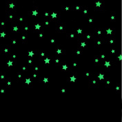 FUNIC100PC Kids Bedroom Beautiful Fluorescent Glow In The Dark Stars Wall Stickers