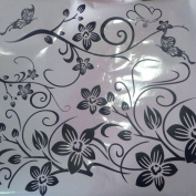 FUNIC Removable Wall Sticker Mural Decal Art - Flowers and Vine