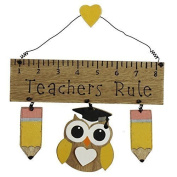 Widdop & Co Wooden Hanging Plaque/Sign TEACHERS RULE