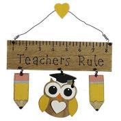 Widdop & Co Wooden Hanging Plaque/Sign TEACHERS RULE