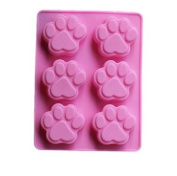 2 Dog Paw Prints Silicone Mould for Chocolate, Ice Tray - Custom Silicone Mats and Moulds from Bakell