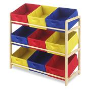 Whitmor Primary Kid's Toy Storage 9-Bin Organiser