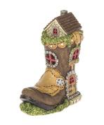 Ganz Home Decor Garden Fantasy Fairy Tale Collection Light Up Boot House