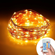 USSay ETohio String Lights, Dimmable LED String Lights for Bedroom, Patio, Party, Christmas Tree, Decorations (100 LEDs, 10m Copper Wire, Remote Control ), 5-7 Days You Can Receive the Goods