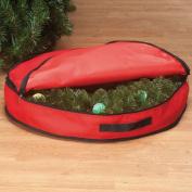 Christmas Wreath Storage Bag - Red - 10cm H x 60cm Dia