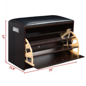 Wood Shoe Storage Bench Ottoman Cabinet Closet Shelf Multipurpose Shoe Storage Cabinet Ideal For Organising And Storing Your Footwear