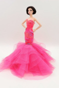 Cora Gu Rainbow Lace Mermaid Lace Dress/Gowns For Barbie Doll/ Girl's 'Present/Barbie Dress