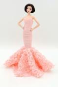Cora Gu Tea Rose Lace Mermaid Lace Dress/Gowns For Barbie Doll/ Girl's 'Present/Barbie Dress