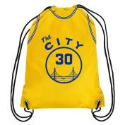 "Golden State Warriors ""The City' Official NBA Drawstring Backpack Gym Bag - Stephen Curry"
