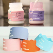 Writable, Reusable labels for Daycare, baby bottle labels. Write, Erase & Reuse! GREAT FOR DAYCARE, Breast Milk, Formula and Milk. 4 bands and free dry erase marker
