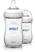 Philips Avent Natural Baby Bottles, 270ml, 3 Pack