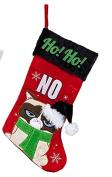 Christmas Grumpy Cat Applique Stocking