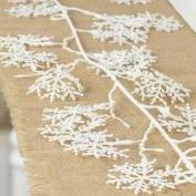 Christmas Holiday Glittery Snowflake Garland