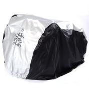 Cycle Bicycle Bike Rain Dust Cover Waterproof - Heavy Duty Storage Cover for Triple Bikes