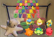 Bath Toy Set wIth Storage Net, Bath Number/Letter set, Bath Animal/Duck Squirter/Sounder set and Octopus Sponge