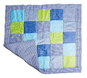 Emma & Noah Baby Play Mat, warm and softly padded, 120 x 120 cm, Patchwork Style, Ideal as Baby Blanket, Baby Quilt, Playmat, Padding for Crib