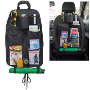 Back Seat Organiser Storage with Umbrella Holder Bag for Car Seat