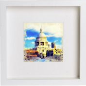 St Paul's Cathedral Framed Artwork / Picture / Photo / Memorabilia Frame   Unique Gift 25x25 cm