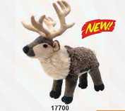 WILD REPUBLIC CUDDLEKINS 30cm REINDEER PLUSH CUDDLY SOFT TOY DEER TEDDY