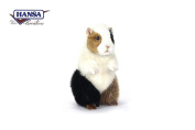 Tricolour Sitting Guineapig Plush Soft Toy by Hansa.22cm 7036