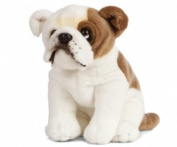Sitting English Bulldog Plush Soft Toy by Living Nature