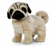 Standing Pug Plush Soft Toy by Living Nature
