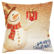 Vipwind Decorative Cushion Covers Vintage Christmas Sofa Bed Home Decor Pillow Case Cushion Cover