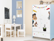 'I-love-Wandtattoo Ilws 19/017/Nursery Furniture Sticker Circus Set Stick-On Sticker Furniture Furniture Decorative Sticker Circus Animals