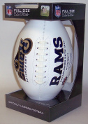 Los Angeles Rams Embroidered Logo Signature Series Full Size Autograph Football