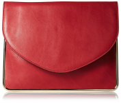Carven Women's Leather Clutch, Rosewood
