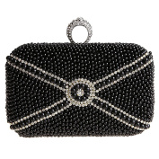 MNBS Women Crystal Ring Evening Handbags Rhinestone Hard Box Wedding Clutch Purse