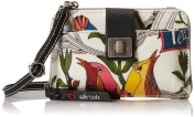 Sakroots Artist Circle Smartphone Cross Body Bag, White Peace, One Size