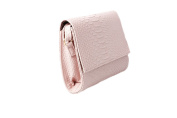 Womens Pink Croc Texture Effect Shoulder Hand Bag