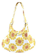 Rhombus Canvas Shoulder Bag, Yellow, One Size