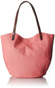Rhombus Canvas Muji Tote, Flamingo Pink, One Size