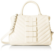 Betsey Johnson Women's Tie Affair Satchel, Cream