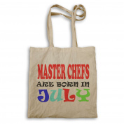 MASTER CHEFS ARE BORN IN JULY FUNNY Tote bag x36r