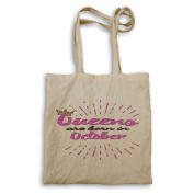 Gold Crown Queens are born in October Tote bag aa70r