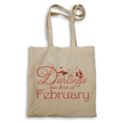 Darlings are born in February Tote bag aa13r