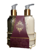 Royal Jelly Hand Duo Includes Hand Wash & Hand Lotion with Holder.