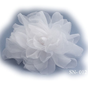 Hair Arrangement Flower Arrangement Flower Large White Hair Comb Item 012