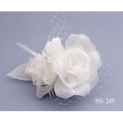 Hair Comb Bridal Hair Arrangement Flower Arrangement Flower Cream Ivory Art. 249