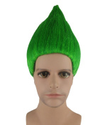 Trolls Movie Cosplay Costume Wig Green ANHM-089UK Adult