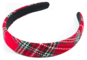 Mytoptrendz® Plaid Tartan Headband Padded Tartan Alice Headband Hair Band Headband Red Plaid Tartan Women Girls Hair Accessories