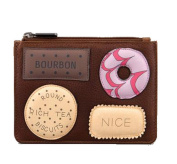 Yoshi by Lichfield Leather Teatime Favourites Biscuits Applique Coin Purse