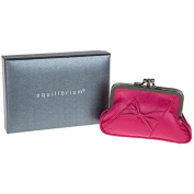 Equilibrium Leather Slant Bow Purse Pink 59752