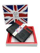 Genuine Leather J Wilson London Mens Slim Card Holder Purse Wallet Gift Boxed