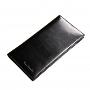 Genuine Leather Handbag Organiser Card Case Long Bifold Wallet