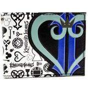 Kingdom Hearts Symbols & Heart Logo Black ID & Card Bi-Fold Wallet